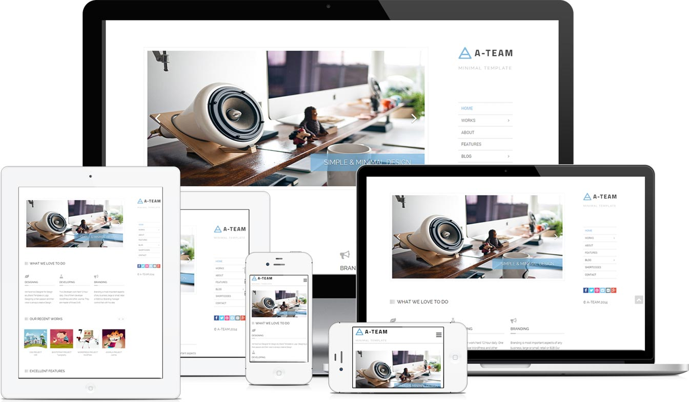 A-TEAM Responsive HTML5 Blog Template