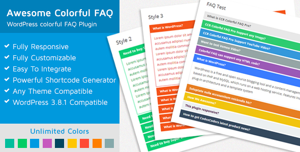 WP Awesome Colorful FAQ