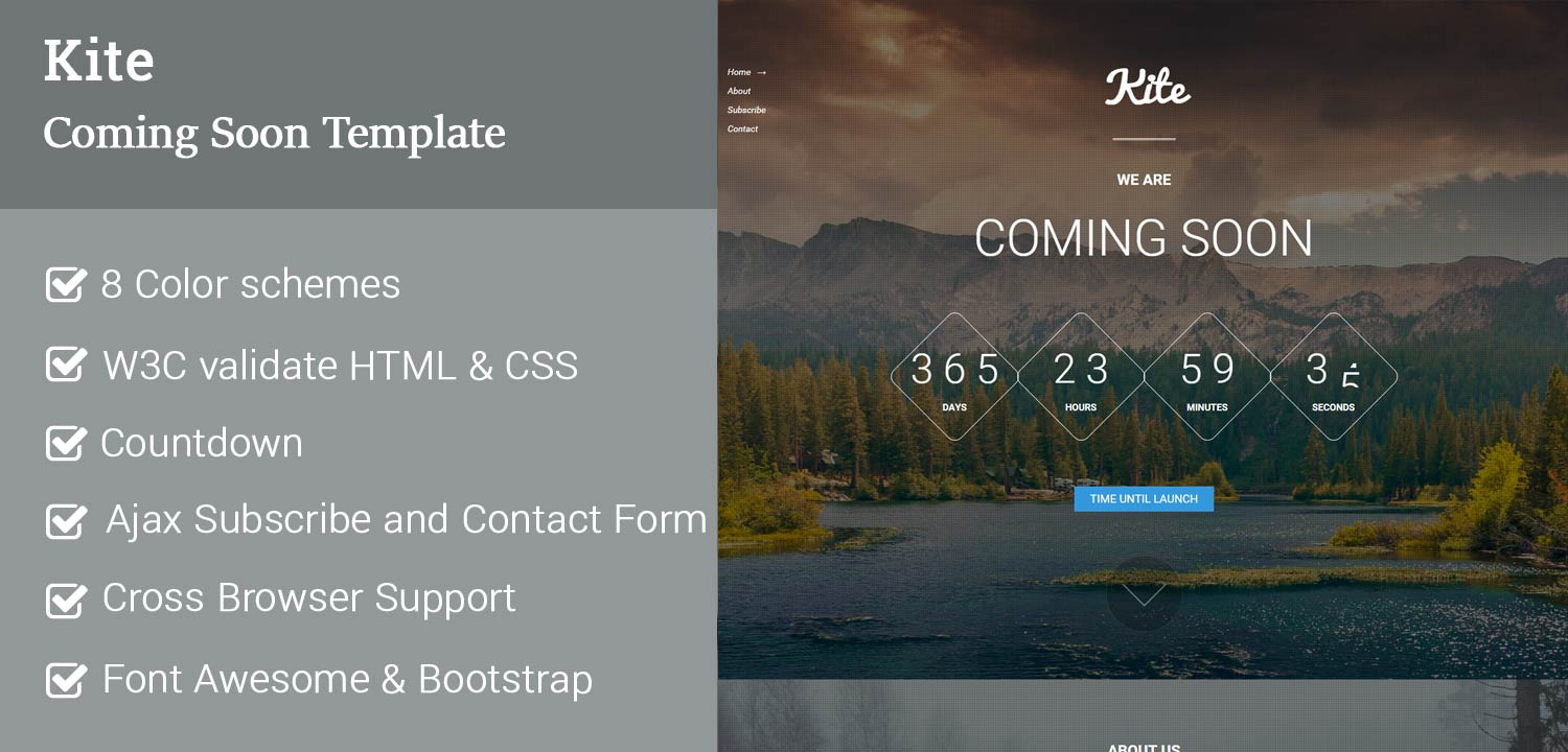KIte Coming Soon Website Template