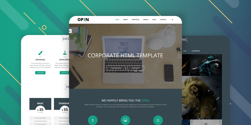 Open Website Template