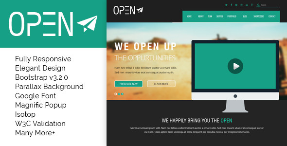 Open – Responsive Corporate and Business Template