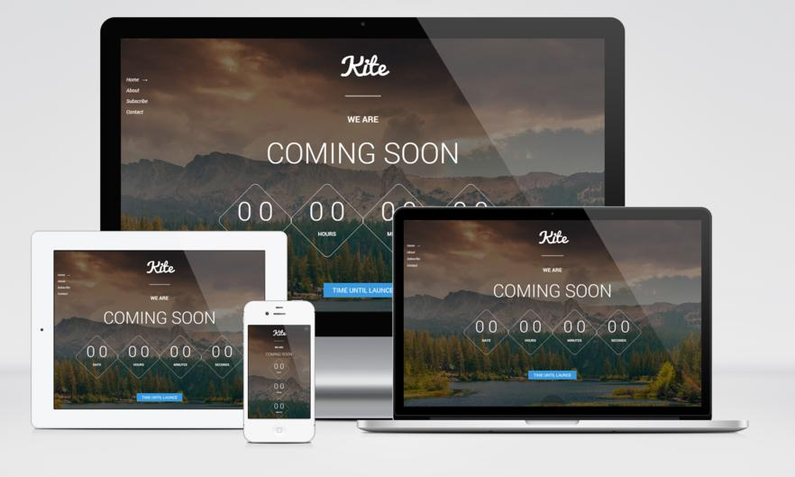 kite free coming soon html template