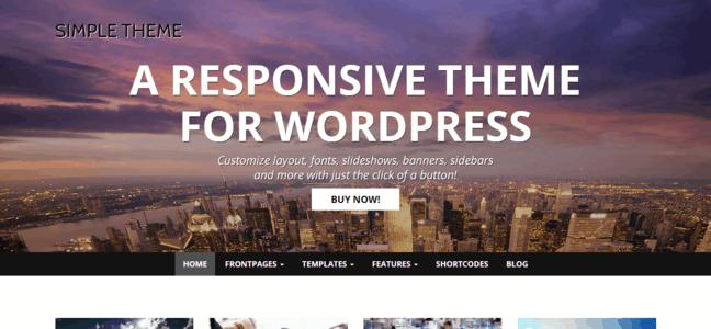 Simple responsive free wordpress themes 2014