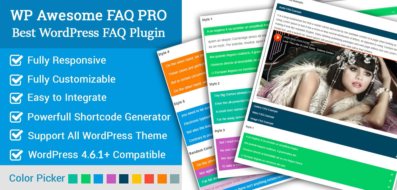 WordPress Awesome FAQ Pro Plugin