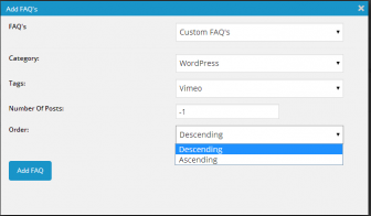 WordPress FAQ Plugin : WP Awesome FAQ PRO