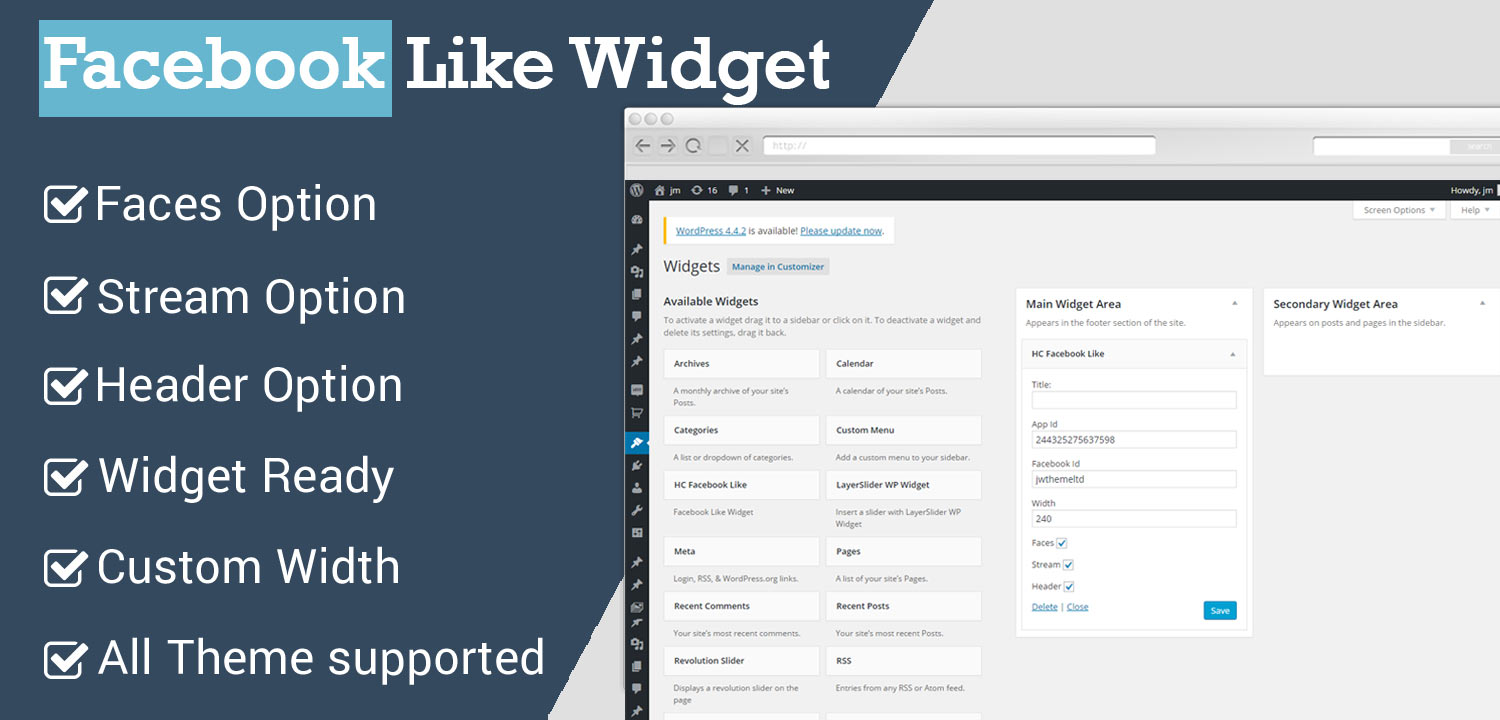 Facebook Like Widget WordPress Plugin