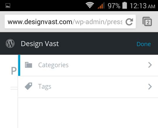 Category And Tag in Press This Tool
