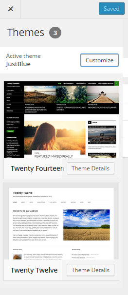 One Click WordPress Theme Customization and Edit