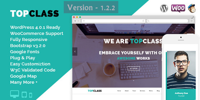 TopClass WordPress Theme Latest Version