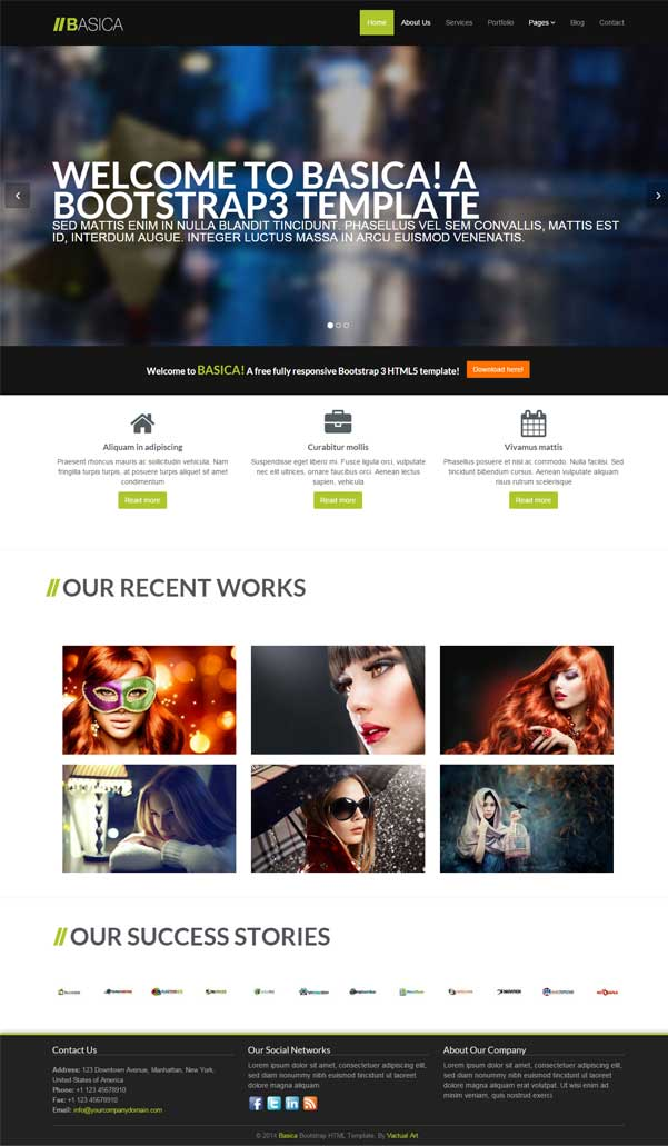 BASICA Bootstrap Website Templates Free Download