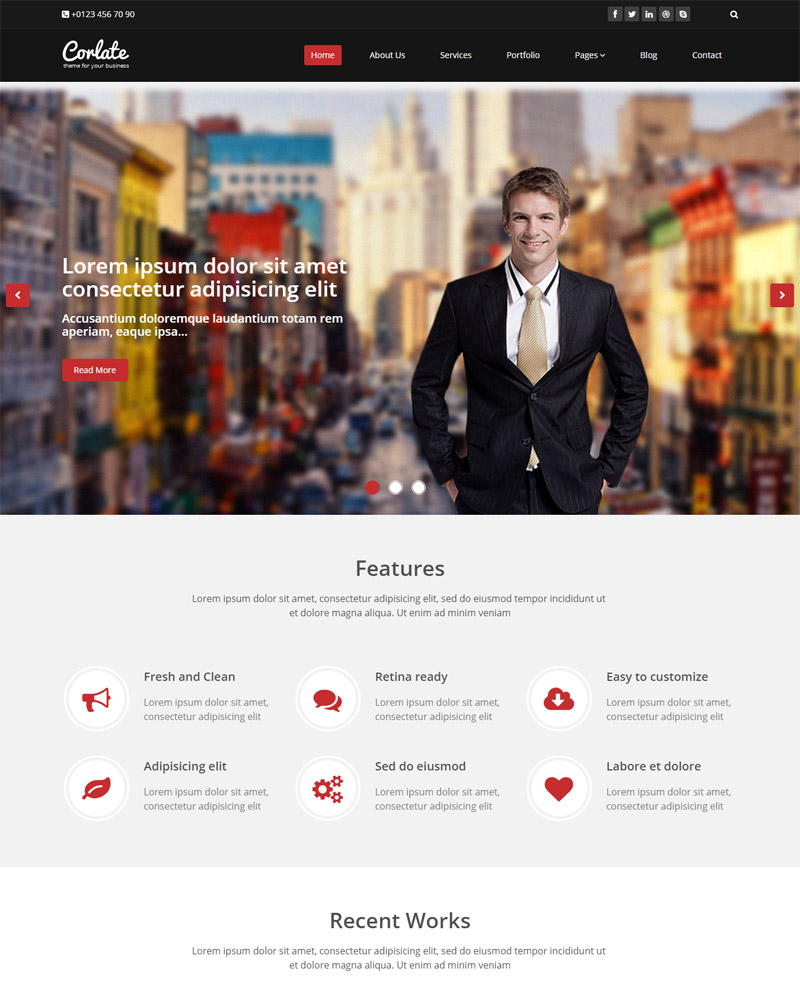 Free Responsive Business HTML Template