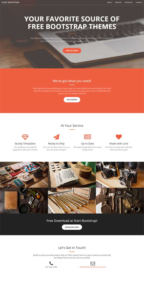 Creative Free Bootstrap Website Template