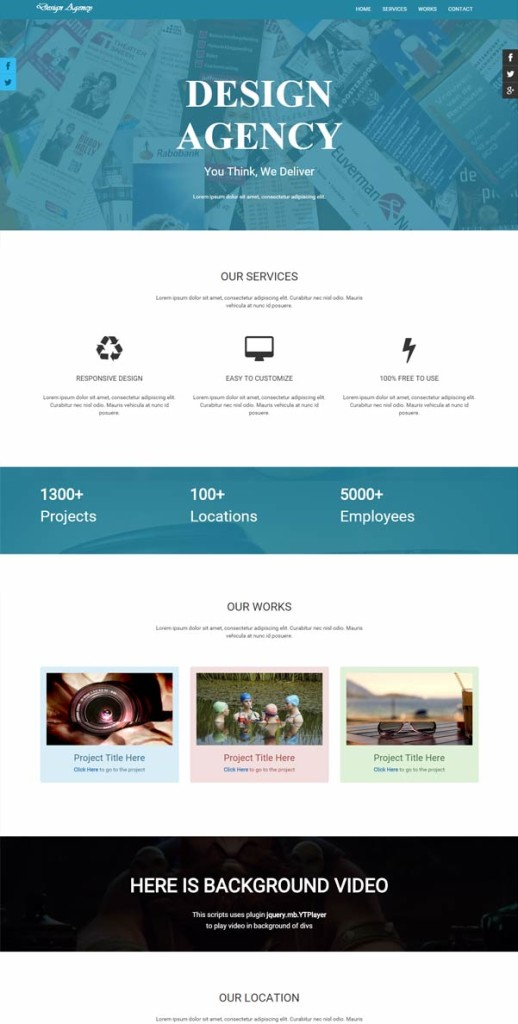 Design Agency Free Bootstrap Corporate Template
