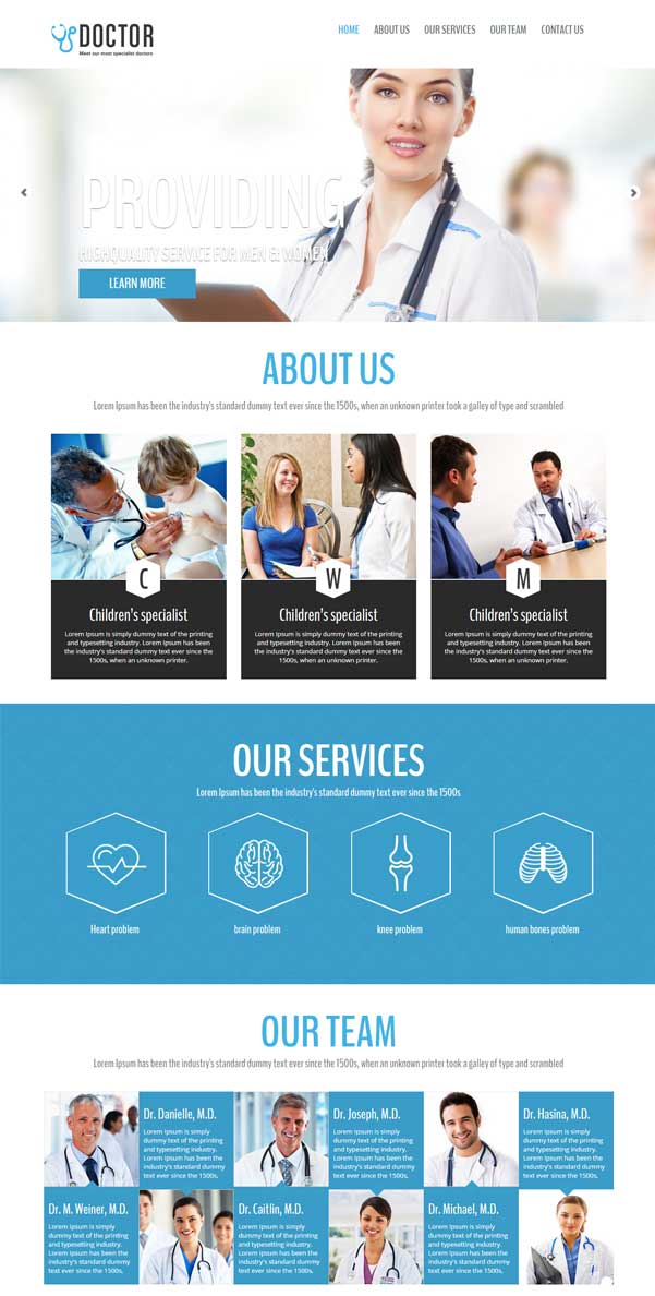 Doctor – Bootstrap Website Templates Free Download