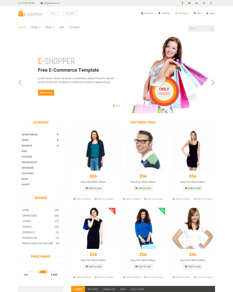 Best Free Ecommerce HTML Template