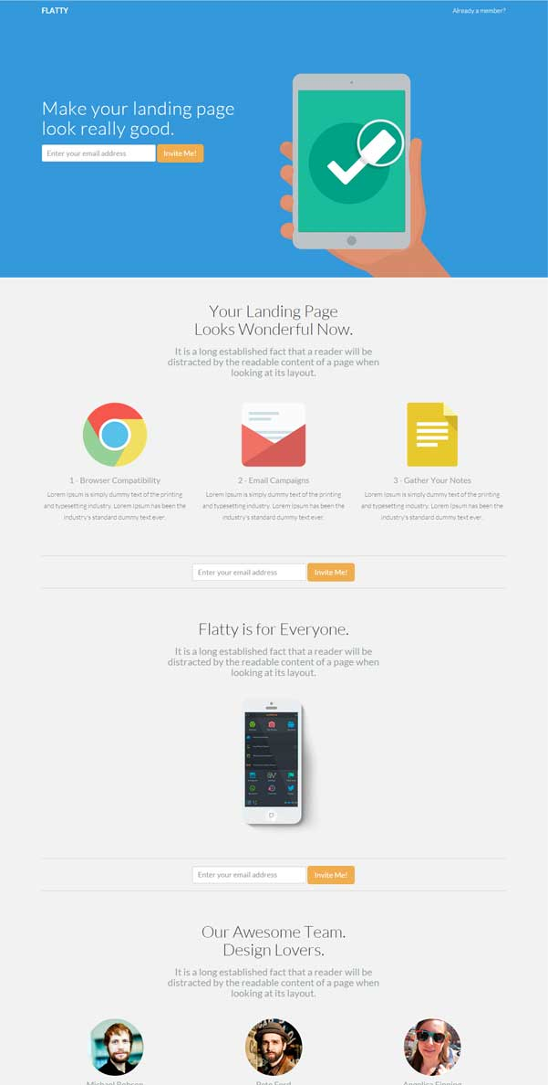 Flatty Bootstrap Website Templates Free Download