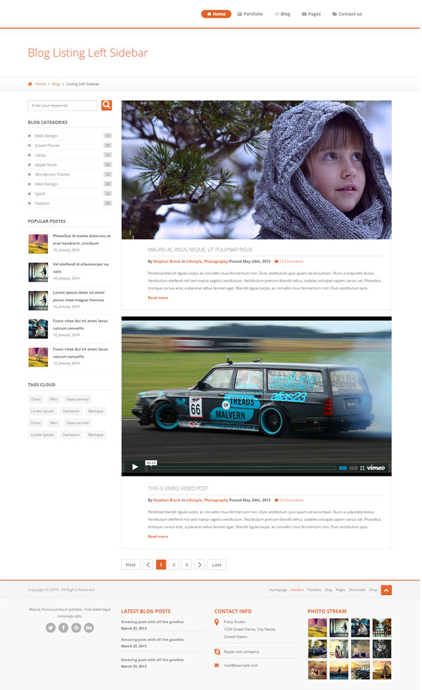Free Bootstrap Template For Blog