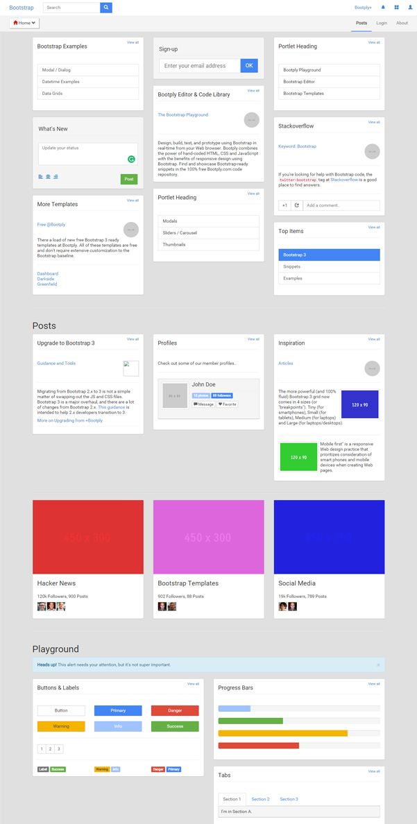 Google Plus Free Bootstrap Template