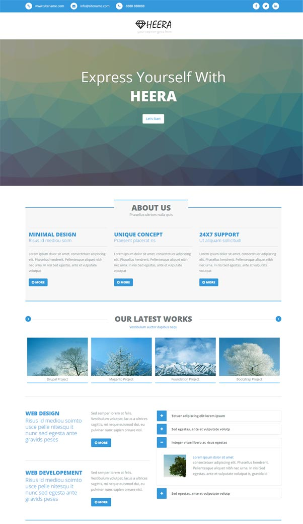 30 bootstrap website templates free download for Website templates free download