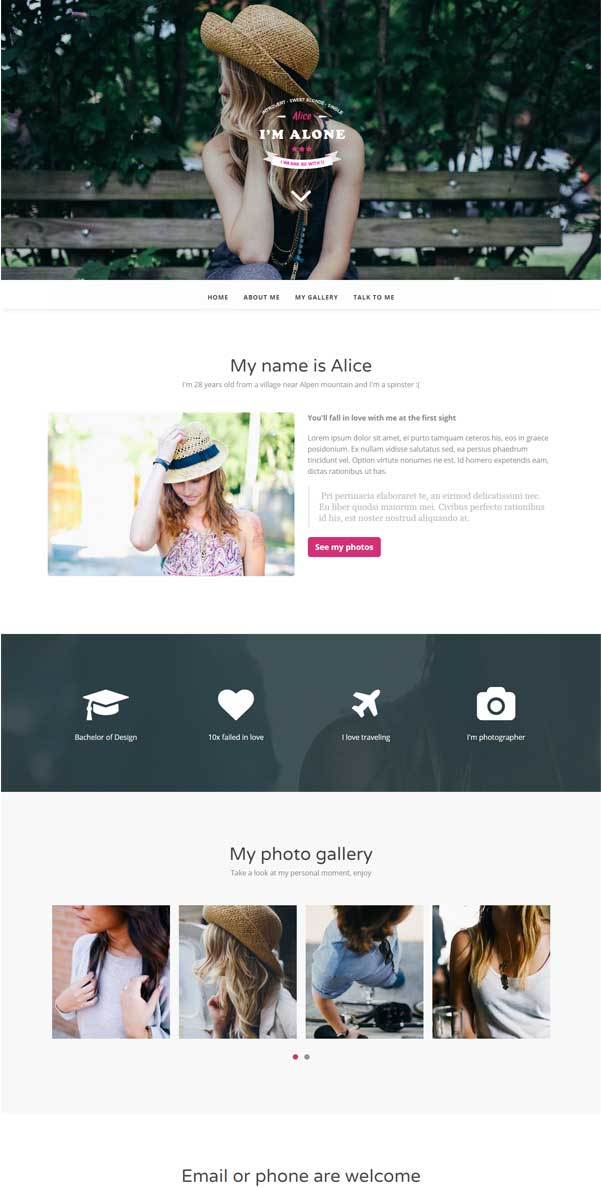 Lonely Bootstrap Website Templates Free Download
