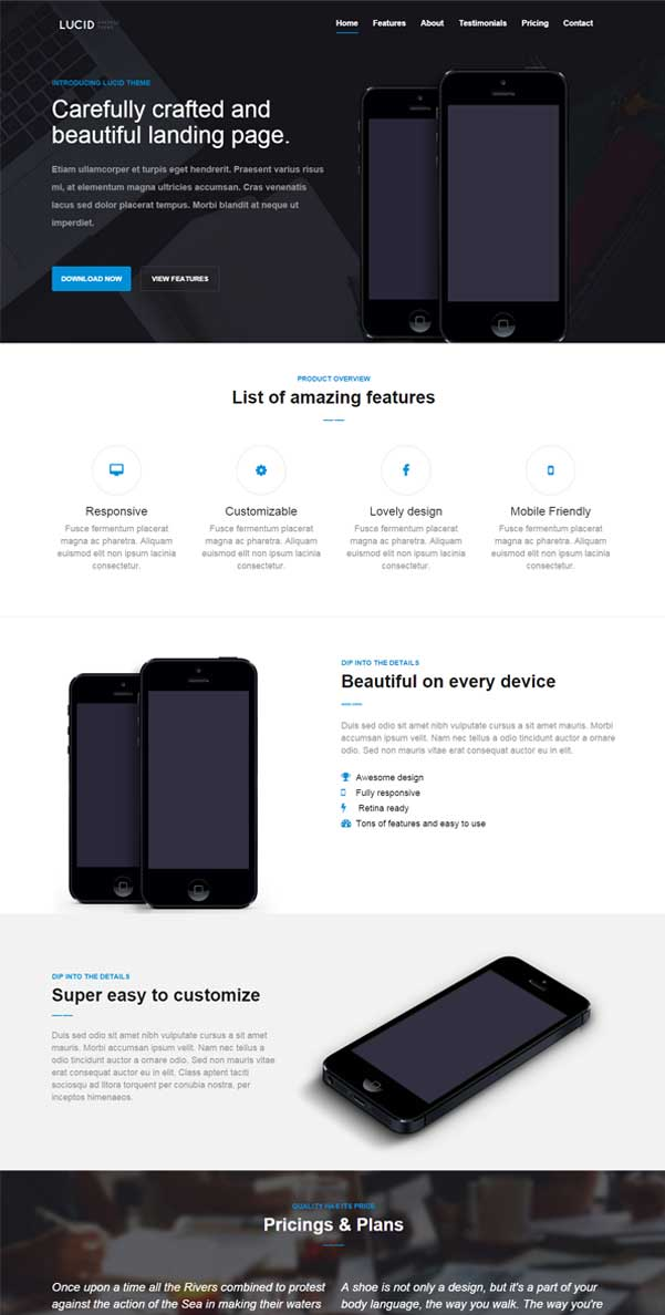 Lucid – HTML5 and Bootstrap Responsive Template