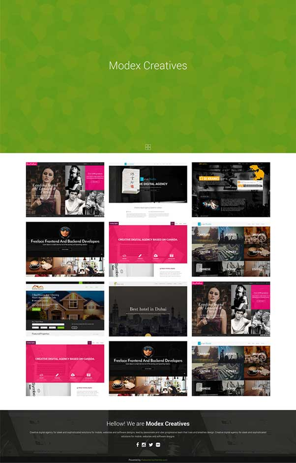 Modex Bootstrap Website Templates Free Download