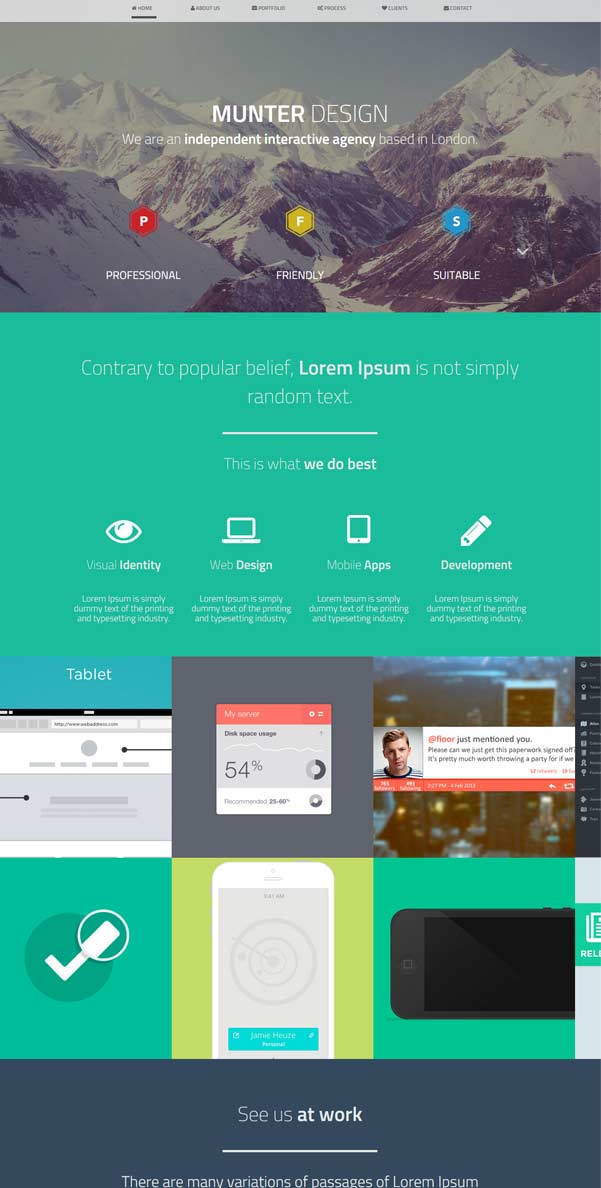 Munter Bootstrap Free Template Download