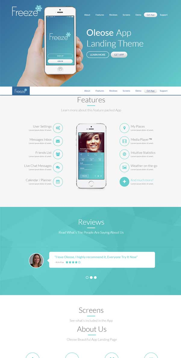 Oleose Bootstrap Website Templates Free Download