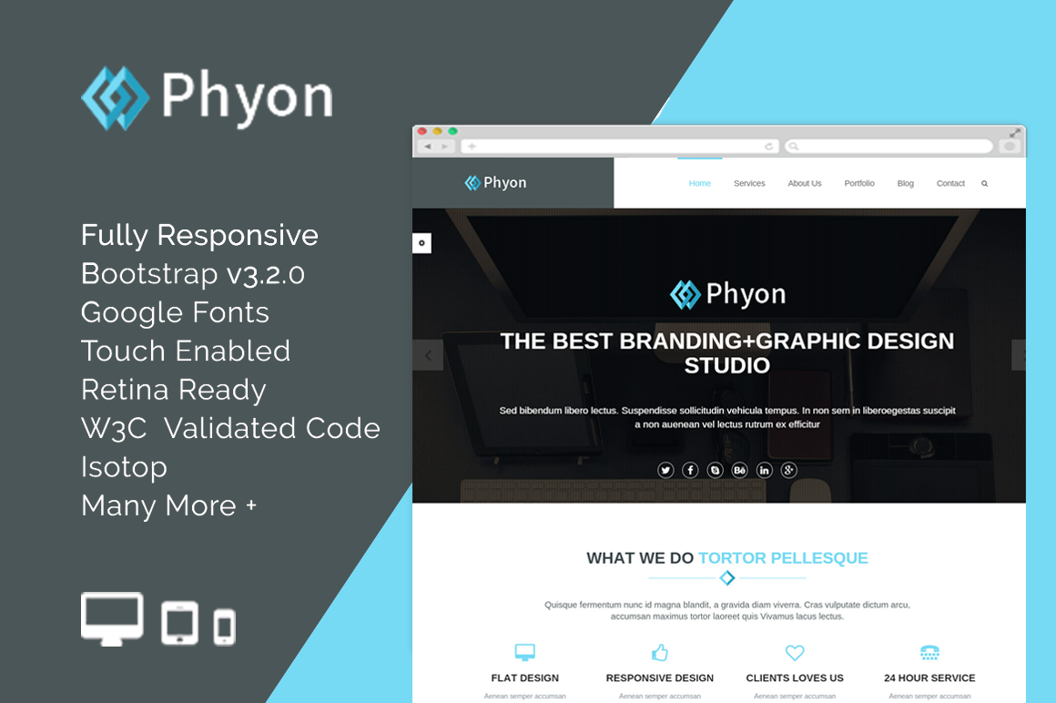 Phyon-Template Template Admin Bootstrap Free Simple on free bootstrap template shop, free bootstrap responsive web template, free one page bootstrap template,