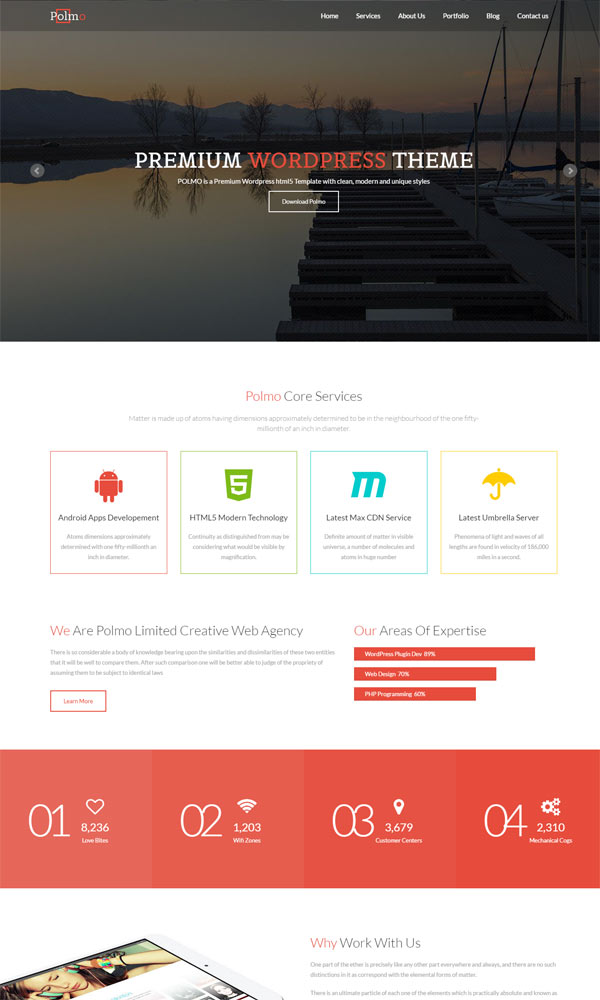 polmo one page free bootstrap website template