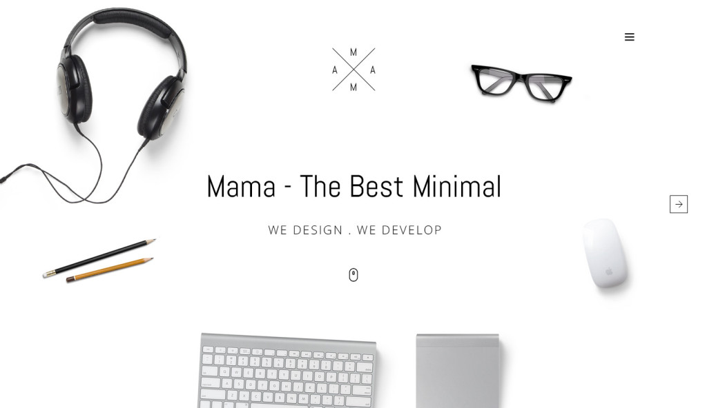 MAMA - Creative Minimal Portfolio WordPress Theme Homepage