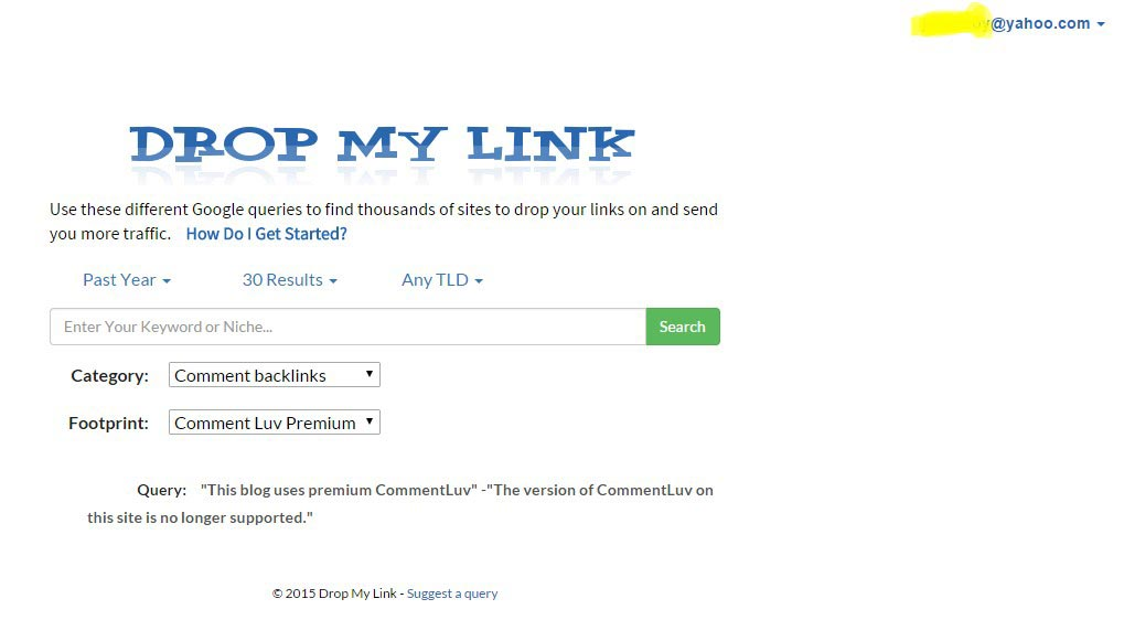Drop My Link helps to find Search Engine Friendly Backlinks