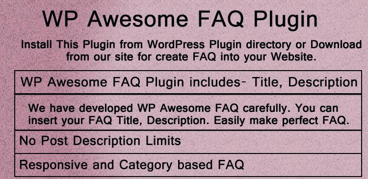 WP Awesome FAQ Plugin Cover