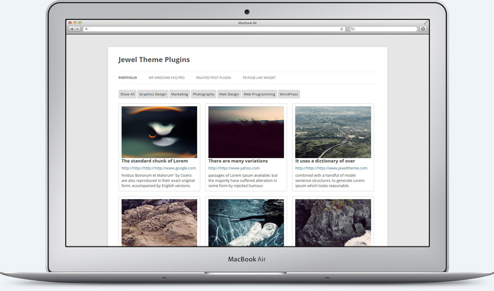 WP Awesome Portfolio Gallery Plugin