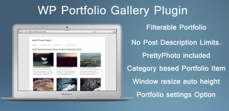 WP Portfolio Gallery Plugin