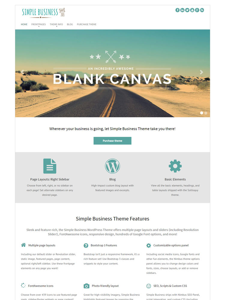 Simple-Business Free WordPress Themes of 2015