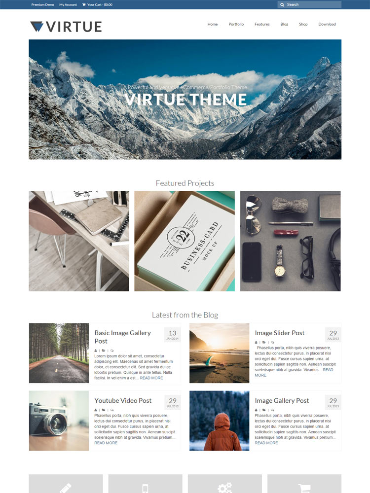 Virtue Free WordPress Themes of 2015