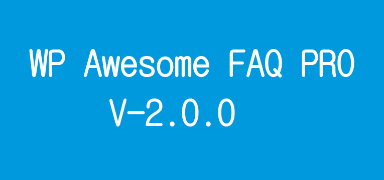 WP Awesome FAQ PRO Updated