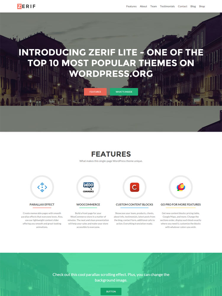 Zerif-Lite Free WordPress Themes of 2015