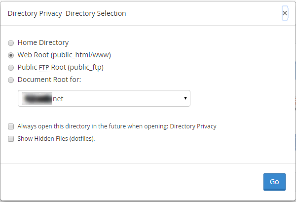 Password Protect Directories Option in Cpanel final
