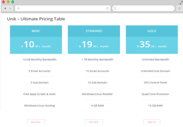 Unik – Pro Ultimate Pricing Table