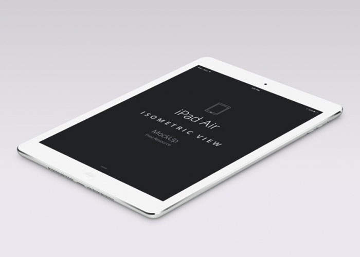 2 iPad Air On A White Background
