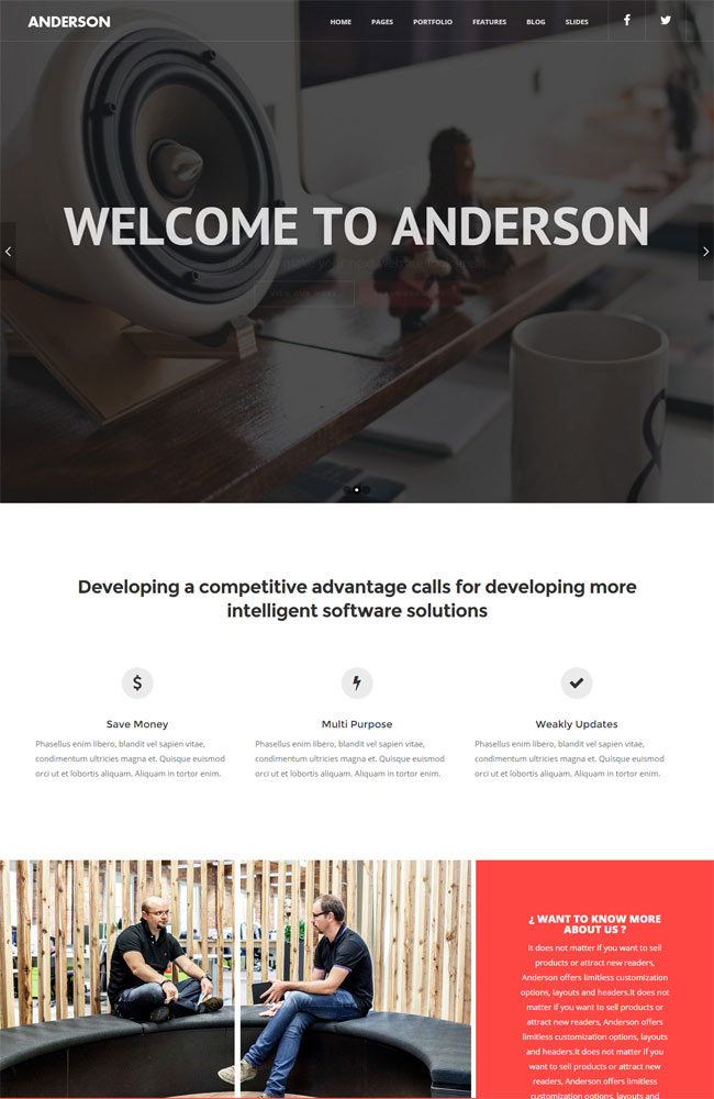Anderson | Multi-Purpose WordPress Theme