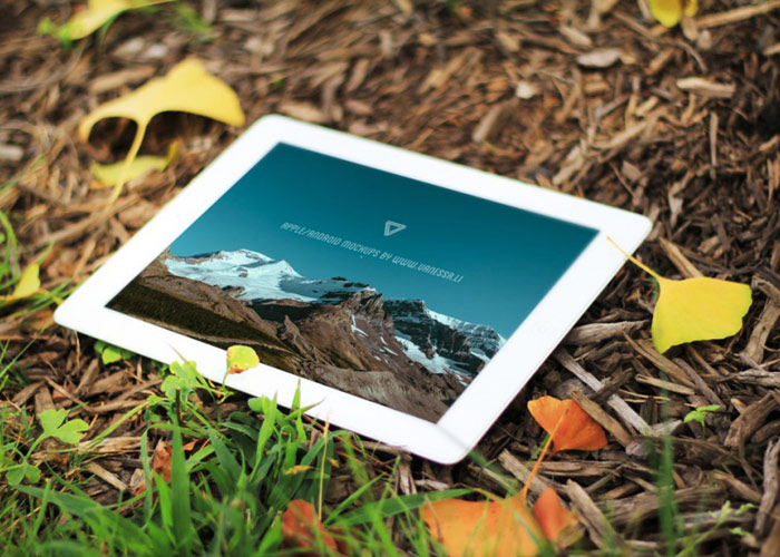 Autumn Style Mockup of iPad