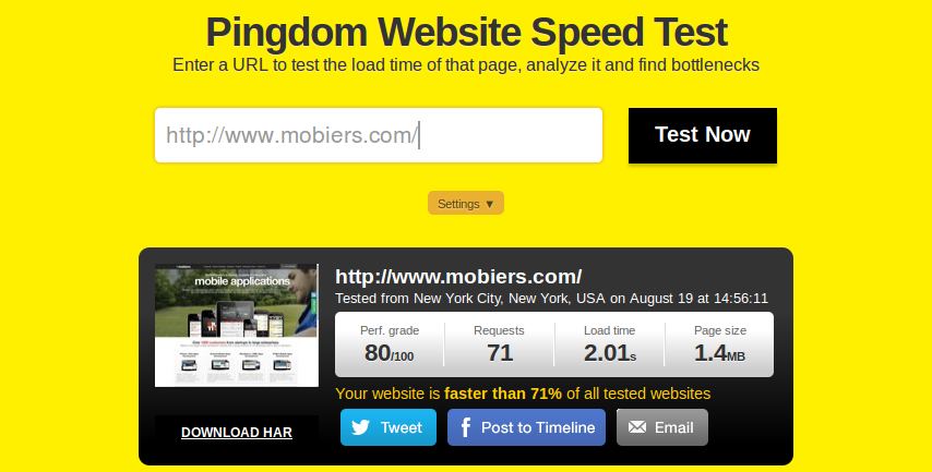 Check Mobile Speed : WordPress Site Load Expeditiously