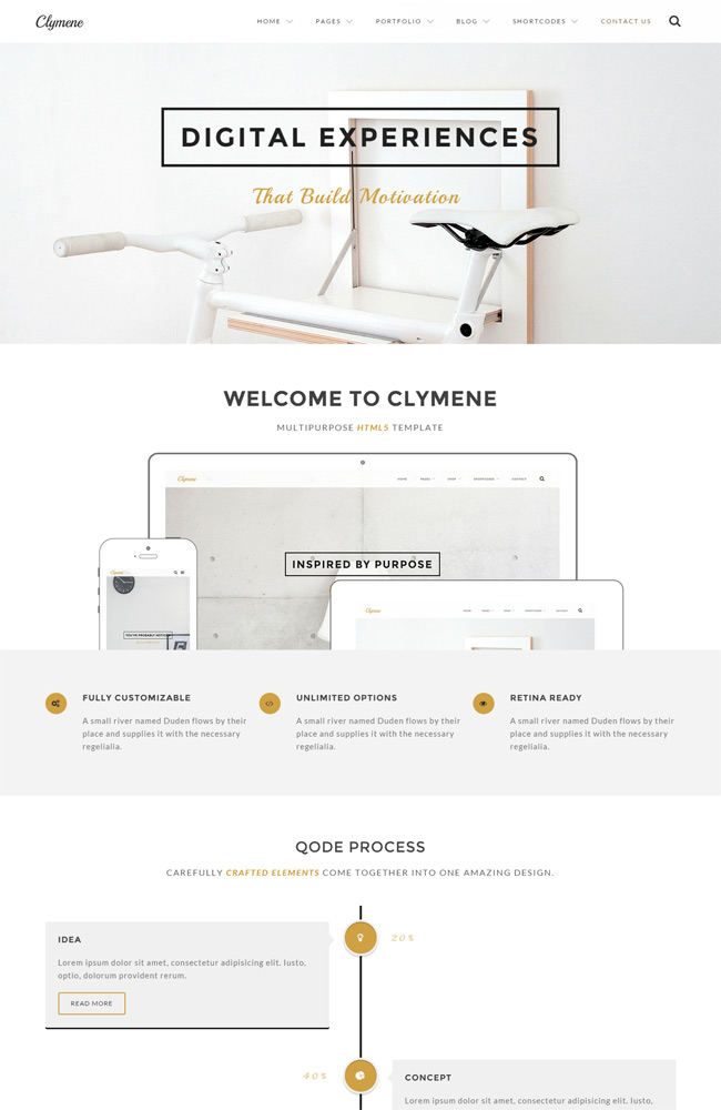 Clymene - Creative Multi-Purpose WordPress Theme