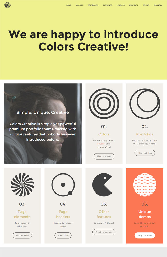 Colors Creative Best Portfolio WordPress Themes