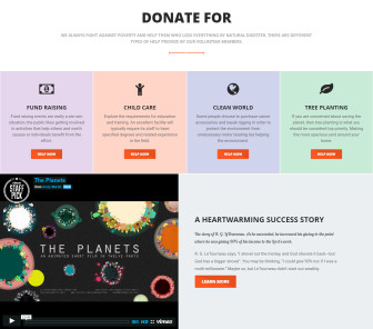 ELEVATION – Charity / Nonprofit / Fundraising Template