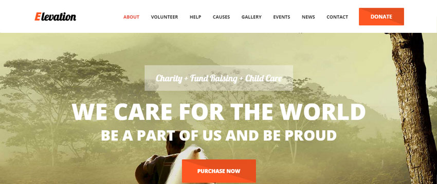 ELEVATION Charity Website Template