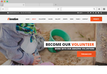 ELEVATION - Charity / Nonprofit / Fundraising Template